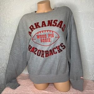 VS PINK Arkansas Razorbacks Bling Crew Sweatshirt